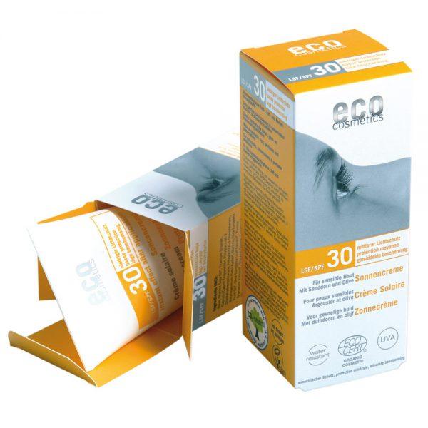 ECO COSMETICS органска крема за сончање SPF 30