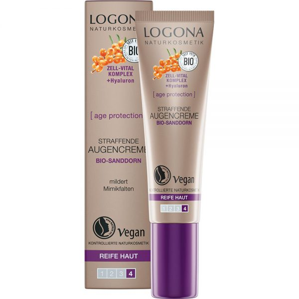 Logona аge protection за намалување на брчките. Oргански антирид крема за околу очи.