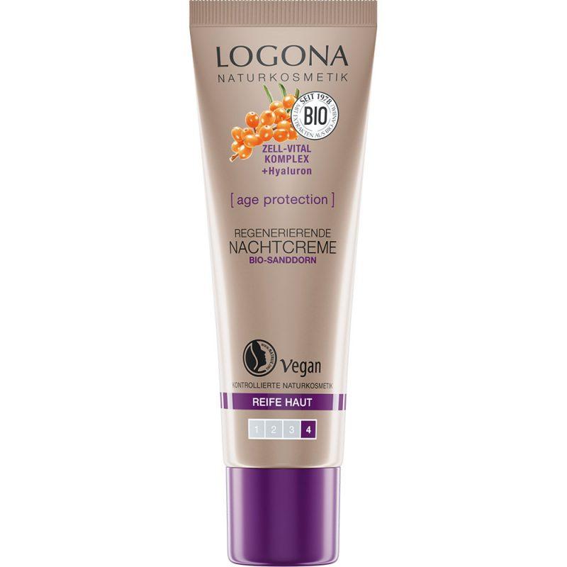 Logona аge protection за намалување на брчките. Oрганска регенеративна ноќна крема.