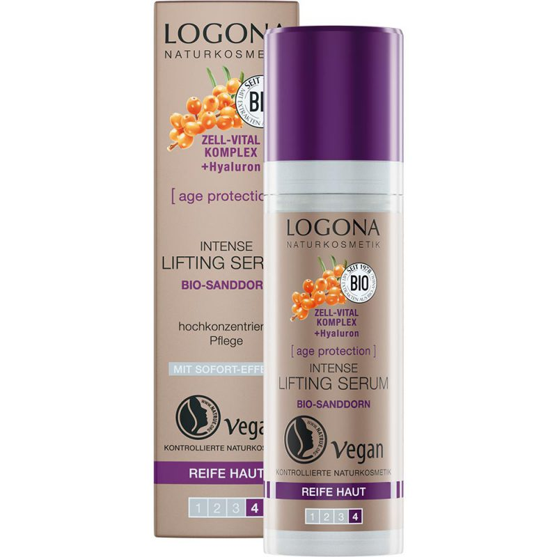 Logona аge protection за намалување на брчките. Oргански серум за интензивен лифтинг.