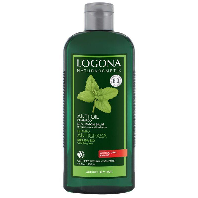 Logona органски шампон за баланс со органска маточина за масна коса и осетлива кожа на главата