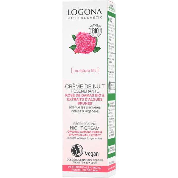 Ноќна крема со органска роза за регенерација